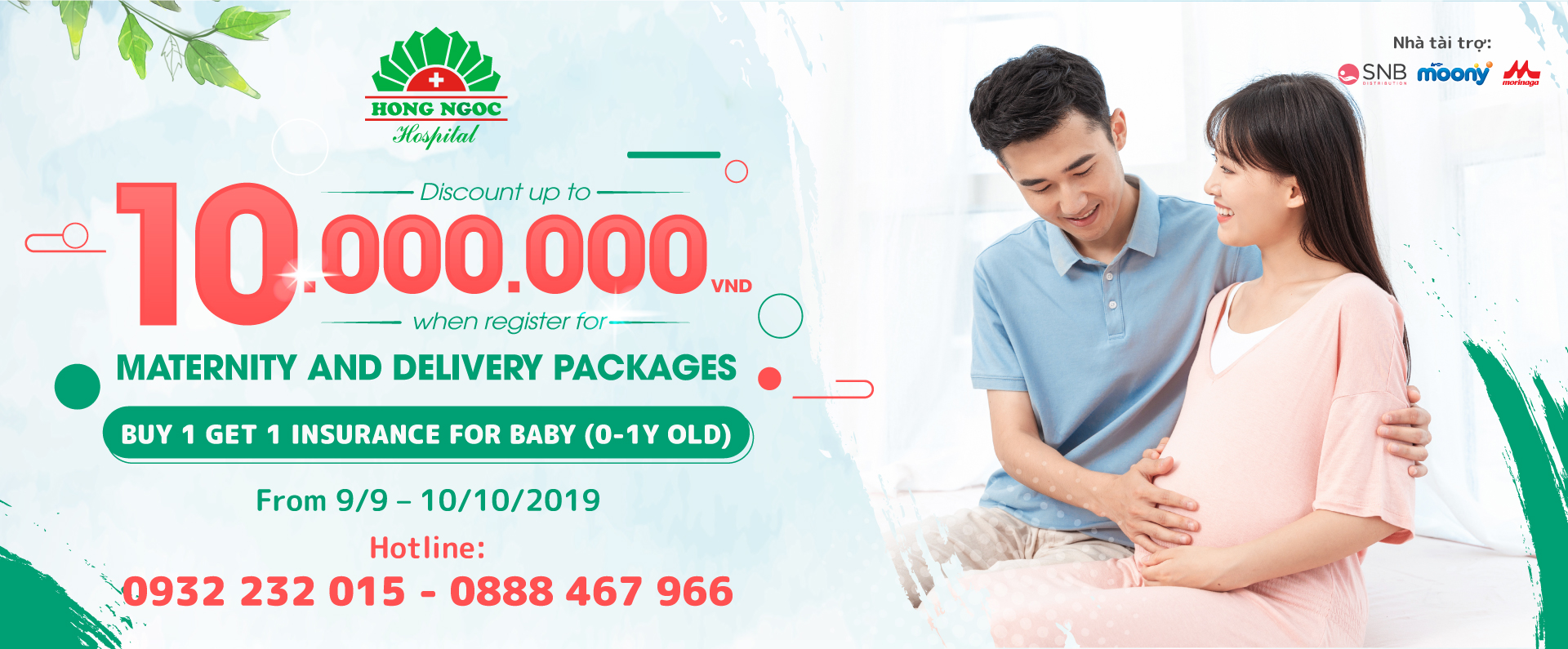 """Enjoy the """"huge"""" promotion up to 10 million VND for maternity packages at Hong Ngoc Hospital"""