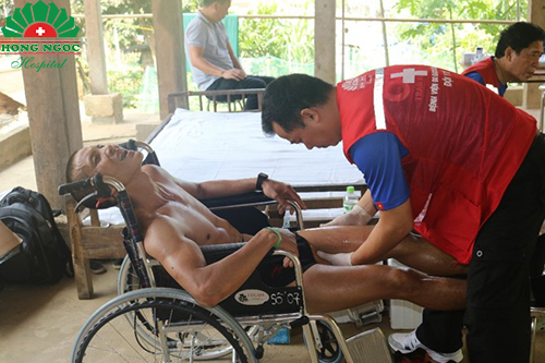 Hong Ngoc provided medical support to Vietnam Jungle Marathon 2019